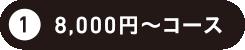 8,000円コース